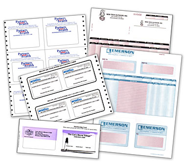 Douglas Forms: Integrated Form/Label and Form/Card combinations